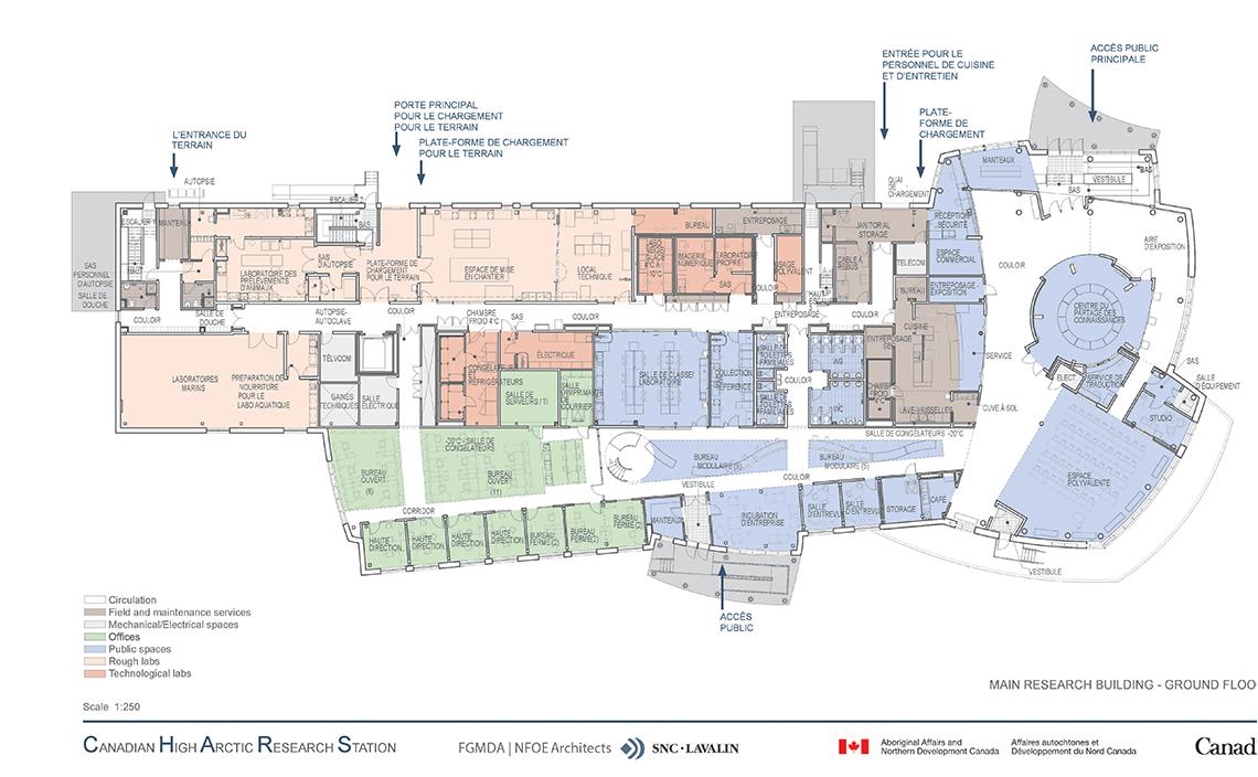 Plans d 39 tage de la station canadienne de recherche dans l for Recherche de plan