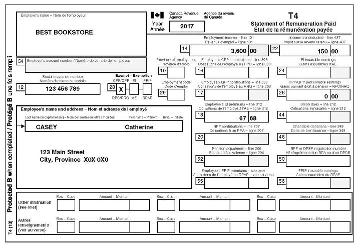 sample tax return
