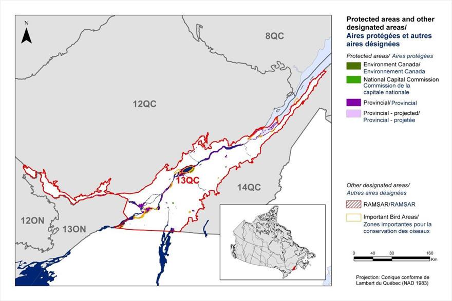 Bird Conservation Strategy for region 13 in Quebec  Canadaca