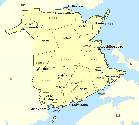 New Brunswick Main Natural Resources