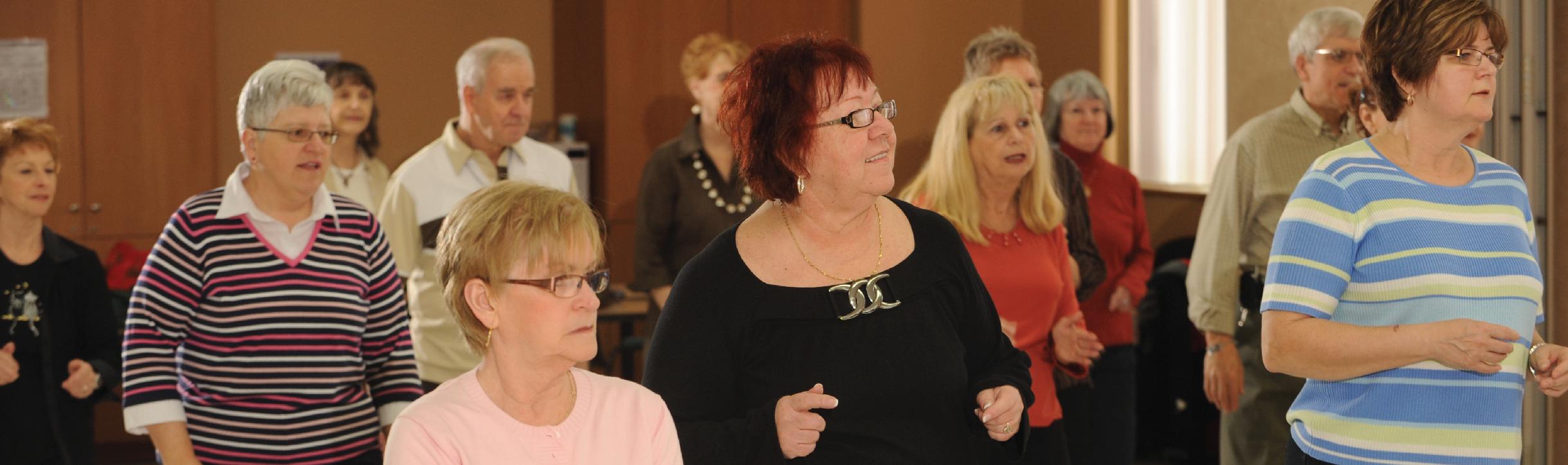 Group of Seniors dancing