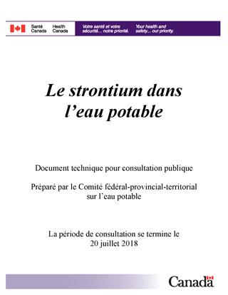 24e0e62fdaa Le strontium dans l eau potable - Document technique pour consultation  publique