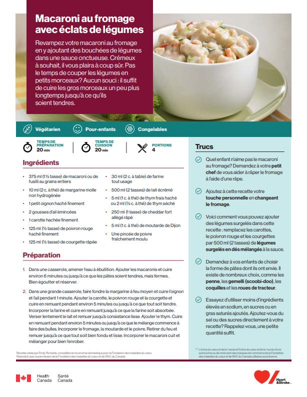 Éclats Canada ca Avec Fromage Au Macaroni De Légumes vN0nm8wO