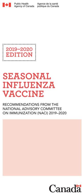 Calendrier Vaccinal 2020 Has.Seasonal Influenza Vaccine Pocket Guide 2019 20 Edition