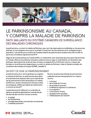 Le parkinsonisme au Canada, y compris la maladie de ...