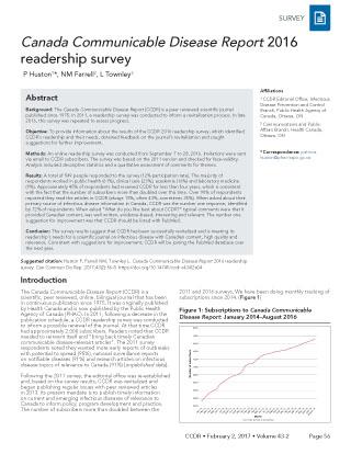 CCDR 2016 Readership Survey