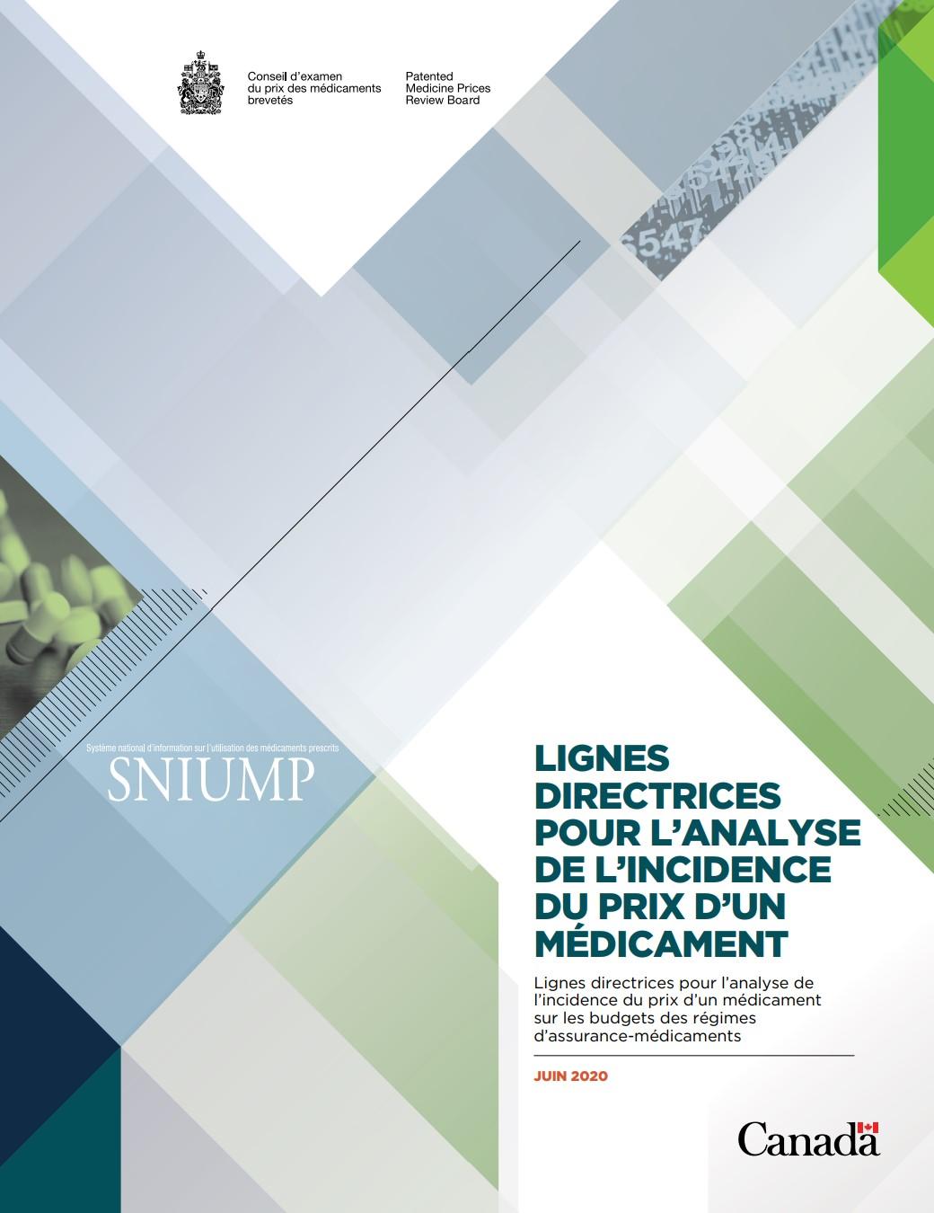 Lignes directrices pour l'analyse de l'incidence du prix d'un médicament