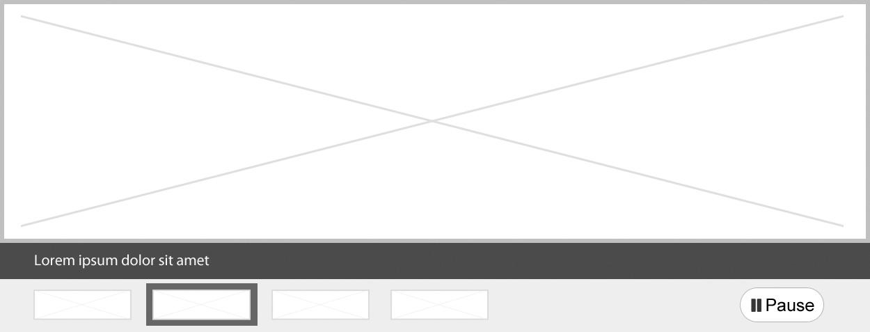 Capture d'écran illustrant le modèle de carrousel pleine largeur dans le site Canada.ca. Plus de détails au sujet de ce graphique se retrouvent dans le texte entourant l'image.