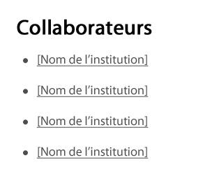 Capture d'écran illustrant le modèle des contributeurs dans le site Canada.ca. Plus de détails au sujet de ce graphique se retrouvent dans le texte entourant l'image.