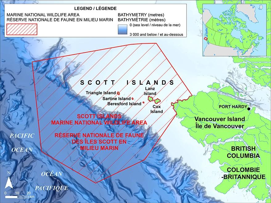 Islands Of Canada Map.Scott Islands Marine National Wildlife Area Canada Ca