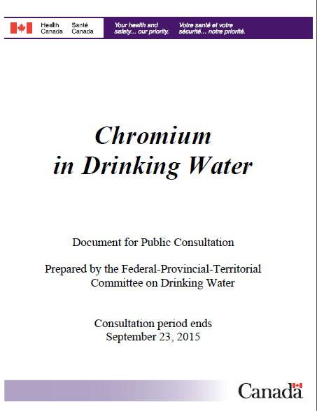 Chromium in Drinking Water - Canada ca