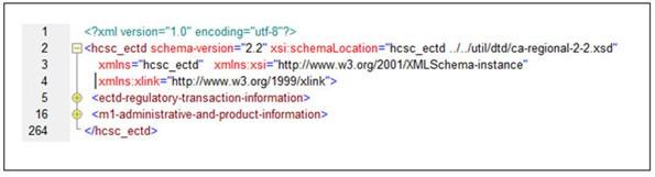 figure 1 example showing xml declaration