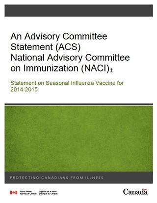Statement On Seasonal Influenza Vaccine For 2014 2015 Canada Ca