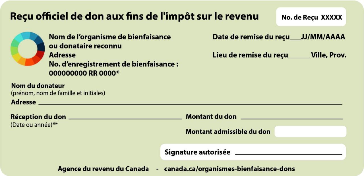 Exemples De Reçus Officiels De Dons Canada Ca