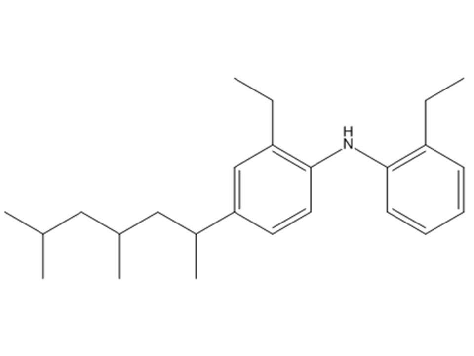 bis o ethylphenyl amine derives tripropenyles