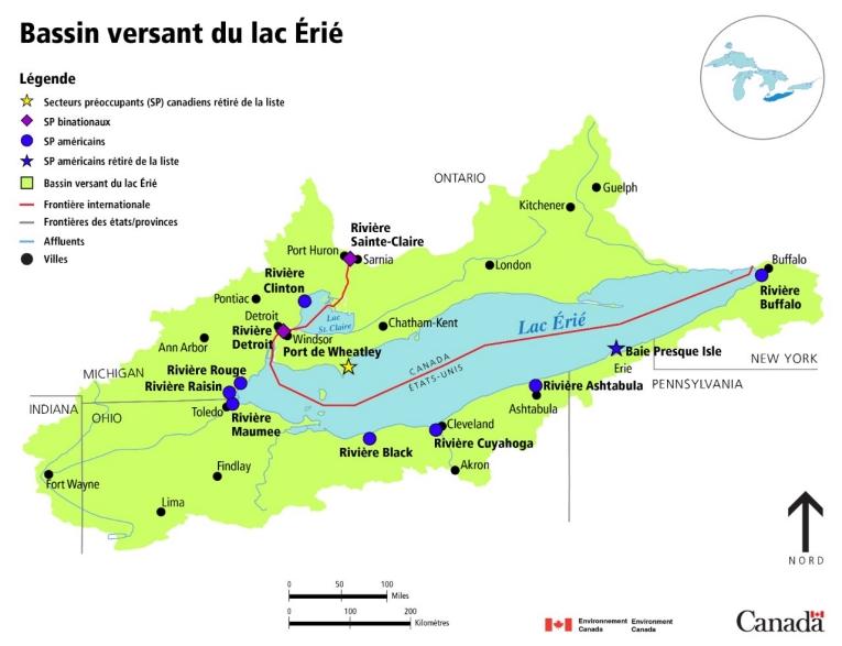 Carte Bassin Hydrographique Canada.Carte Du Bassin Hydrographique Du Lac Erie Canada Ca