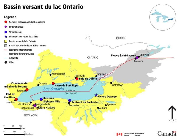 Carte Assurance Maladie Toronto.Carte Du Bassin Hydrographique Du Lac Ontario Canada Ca