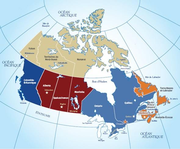 Découvrir Le Canada Les Régions Du Canada Canadaca