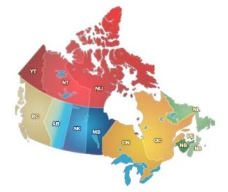 Carte Canada Avec Ville.Provinces Et Territoires Apprendre A Connaitre Le Canada Canada Ca
